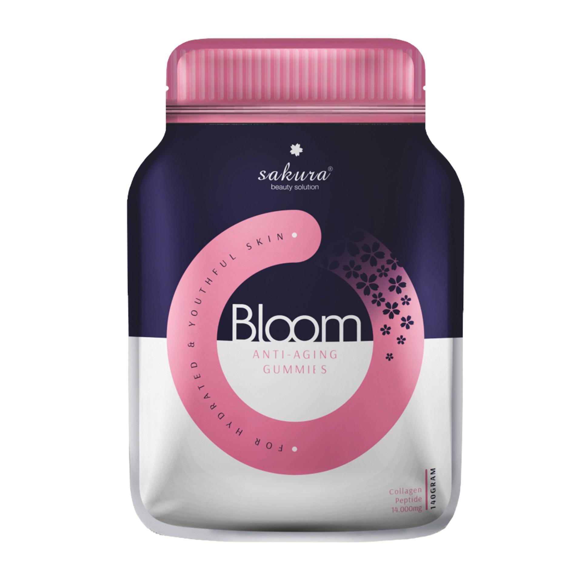 Kẹo dẻo đẹp da bổ sung Collagen Sakura Bloom Anti - Aging Collagen Gummies